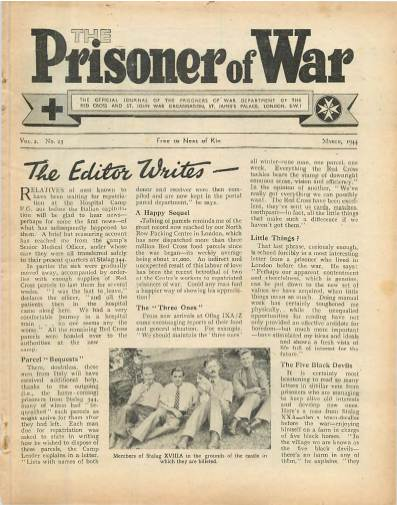 View individual pages of 'The Prisoner of War  No 23 Vol 2 March 1944'