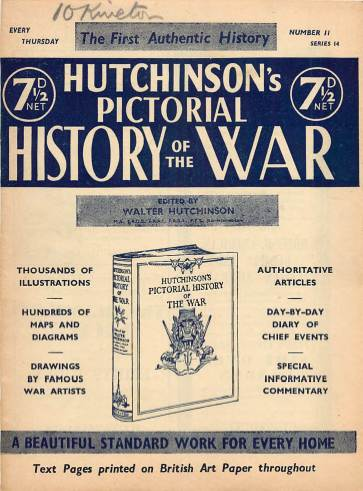 View individual pages of 'Hutchinson's Pictorial History of the War, Series 14 No 11'
