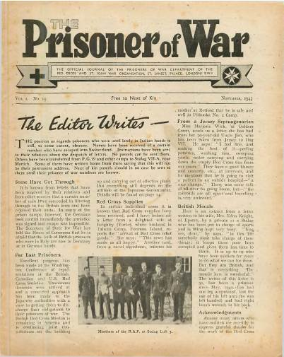 View individual pages of 'The Prisoner of War  No 19 Vol 2 November 1943'
