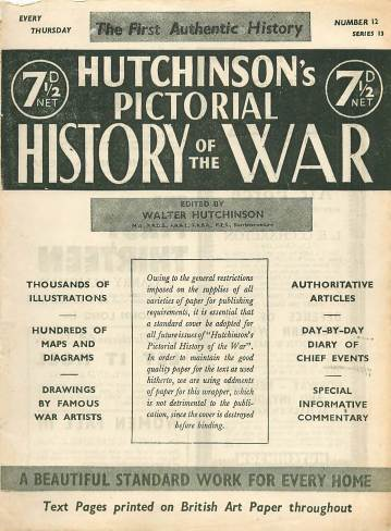 View individual pages of 'Hutchinson's Pictorial History of the War, Series 13 No 12'