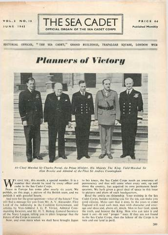 View individual pages of 'The Sea Cadet, No. 10, Vol. 2, June 1945'