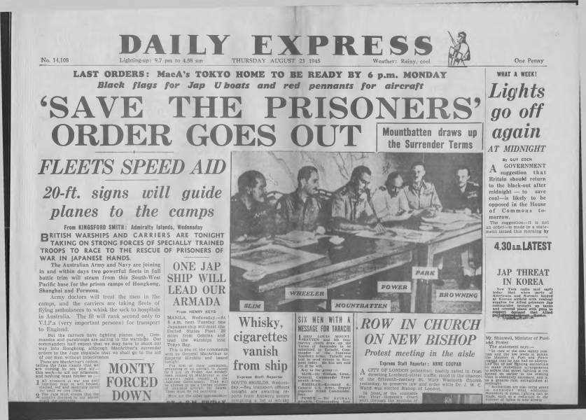 View individual pages of 'Daily Express August 23 1945'