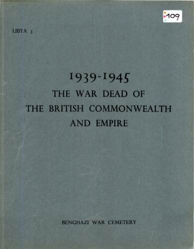 View individual pages of 'Memorial Register Libya 3 The War Dead of The British Commonwealth and Empire 1939-1945 Benghazi War Cemetery'