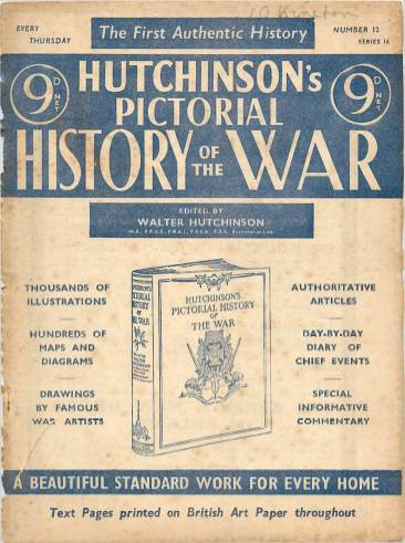 View individual pages of 'Hutchinson's Pictorial History of the War, Series 16 No. 12'