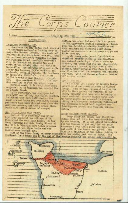 View individual pages of 'The Corps Courier Issues June 1944'