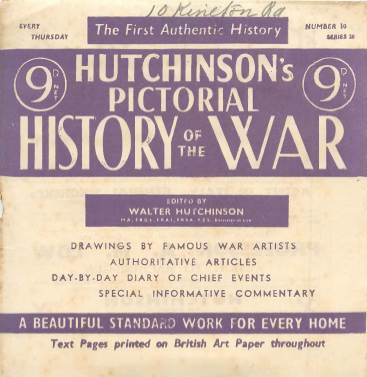 View individual pages of 'Hutchinson's Pictorial History of the War, Series 20 No 10'