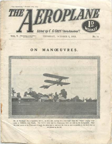 View individual pages of 'The Aeroplane, No. 14, Vol. 5, October 2nd 1913'
