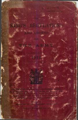 View individual pages of 'The King's Regulations and Orders for The Army 1912'
