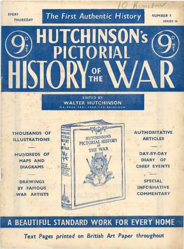 View individual pages of 'Hutchinson's Pictorial History of the War, Series 16 No. 7'