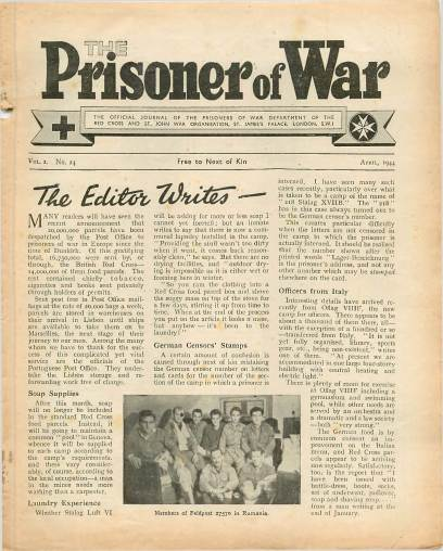 View individual pages of 'The Prisoner of War  No 24 Vol 2 April 1944'