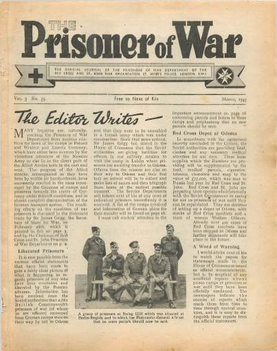 View individual pages of 'The Prisoner of War  No 35 Vol 3 March 1945'