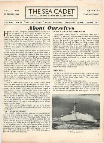 View individual pages of 'The Sea Cadet, No. 1, Vol. 3, September 1945'