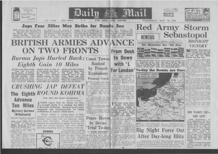 View individual pages of 'Daily Mail May 10th 1944'