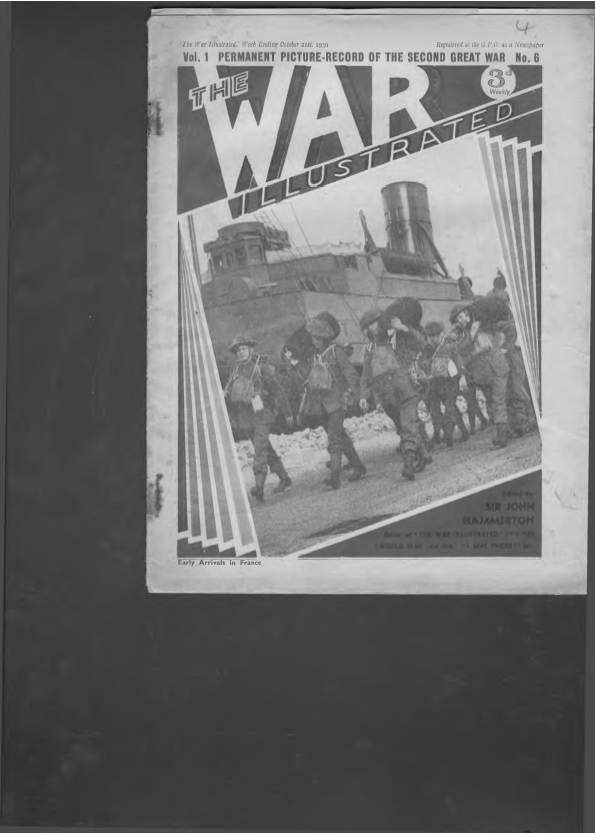 View individual pages of 'The War Illustrated  No 6 Vol 1 October 21st 1939'