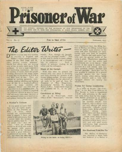 View individual pages of 'The Prisoner of War  No 17 Vol 2 September 1943'