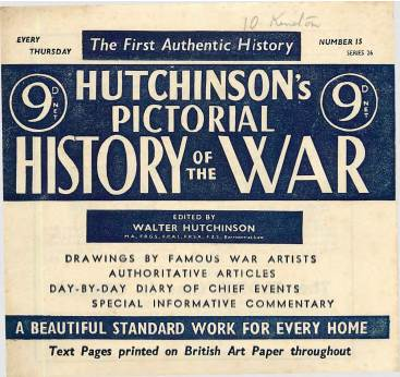 View individual pages of 'Hutchinson's Pictorial History of the War, Series 26, No 15'