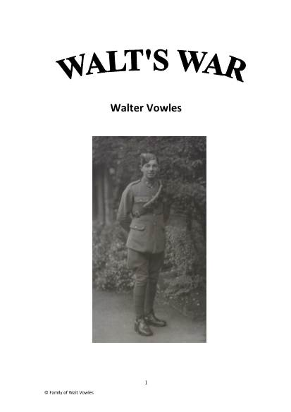 View individual pages of 'Walts War - WWII Life and Times in the Machine Gun Corp & 9th Armoured Brigade'