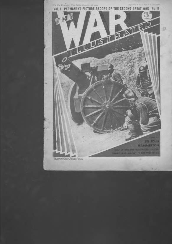 View individual pages of 'The War Illustrated  No 8 Vol 1 November 4th 1939'