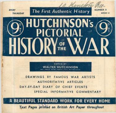 View individual pages of 'Hutchinson's Pictorial History of the War, Series 22 No. 8'
