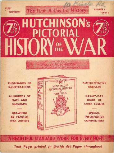 View individual pages of 'Hutchinson's Pictorial History of the War, Series 15 No 4'