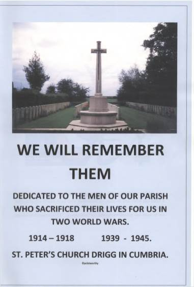 View individual pages of 'We Will Remember Them - Dedicated to the Men of our Parish who Sacrificed their lives for us.  St Peter's Church Drigg in Cumbria'