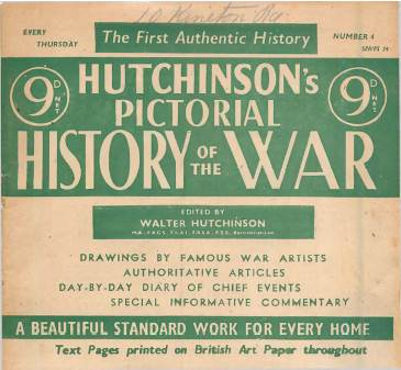 View individual pages of 'Hutchinson's Pictorial History of the War, Series 24 No.4'