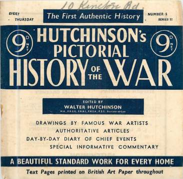 View individual pages of 'Hutchinson's Pictorial History of the War, Series 22 No. 5'