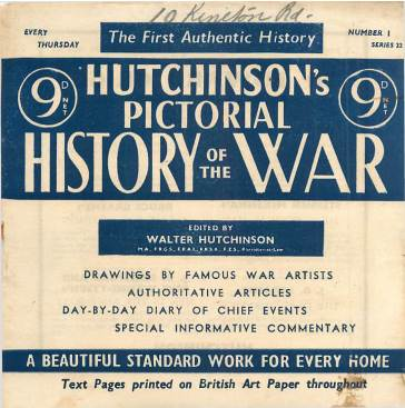 View individual pages of 'Hutchinson's Pictorial History of the War, Series 22 No 1'