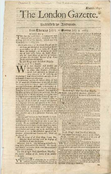 View individual pages of 'The London Gazette, July 5 - July 9 1683'