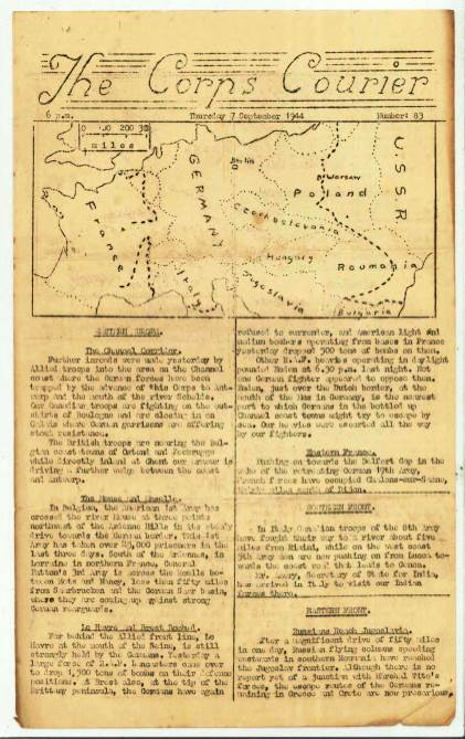 View individual pages of 'The Corps Courier Issues Sept 1944'