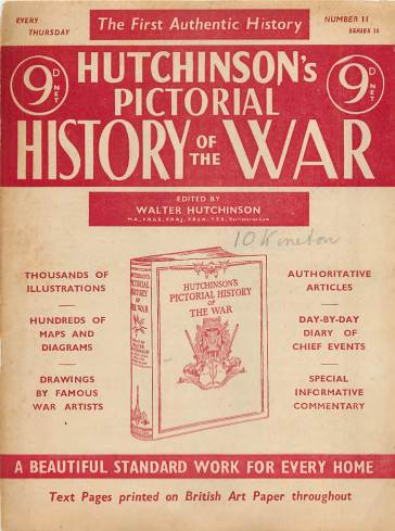 View individual pages of 'Hutchinson's Pictorial History of the War, Series 15 No 11'