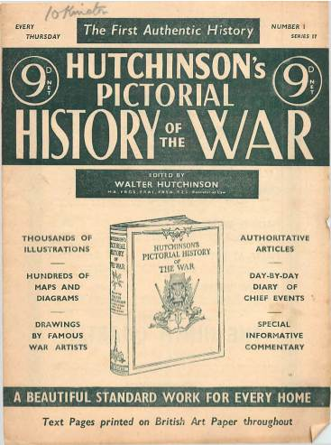 View individual pages of 'Hutchinson's Pictorial History of the War, Series 17 No 1'