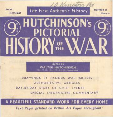 View individual pages of 'Hutchinson's Pictorial History of the War, Series 20 No 12'