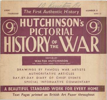 View individual pages of 'Hutchinson's Pictorial History of the War, Series 25, No 11'