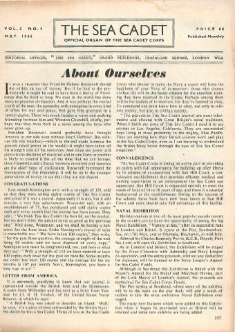 View individual pages of 'The Sea Cadet, No. 9, Vol. 2, May 1945'