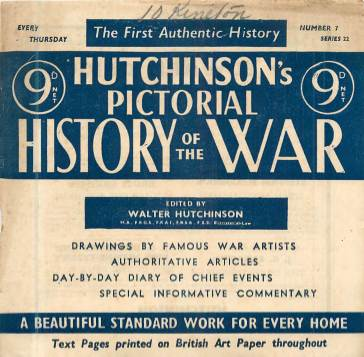View individual pages of 'Hutchinson's Pictorial History of the War, Series 22 No. 7'