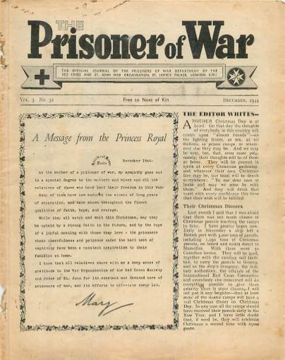 View individual pages of 'The Prisoner of War  No 32 Vol 3 December 1944'