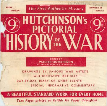 View individual pages of 'Hutchinson's Pictorial History of the War, Series 21 No 10'