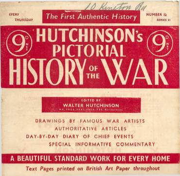 View individual pages of 'Hutchinson's Pictorial History of the War, Series 21 No 12'