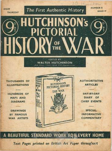 View individual pages of 'Hutchinson's Pictorial History of the War, Series 17 No 5'