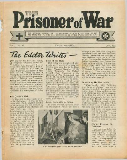View individual pages of 'The Prisoner of War  No 26 Vol 3 June 1944'