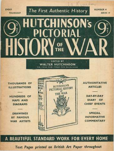 View individual pages of 'Hutchinson's Pictorial History of the War, Series 17 No 4'