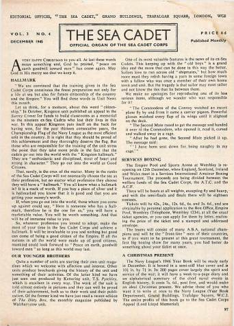 View individual pages of 'The Sea Cadet, No. 4, Vol. 3, December 1945'