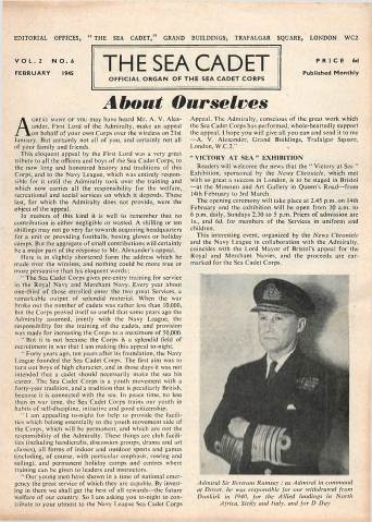 View individual pages of 'The Sea Cadet, No. 6, Vol. 2, February 1945'