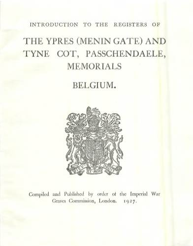 View individual pages of 'Memorial Register 29-30, Introduction to the Registers of The Ypres (Menin Gate) and Tyne Cot Memorials, Belgium'
