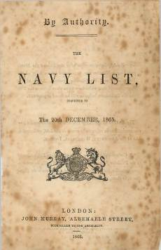 View individual pages of 'Navy List - January 1866'