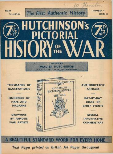 View individual pages of 'Hutchinson's Pictorial History of the War, Series 14 No 4'