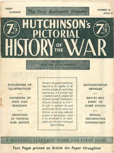 View individual pages of 'Hutchinson's Pictorial History of the War, Series 13 No 10'