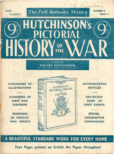 View individual pages of 'Hutchinson's Pictorial History of the War, Series 18 No 3'