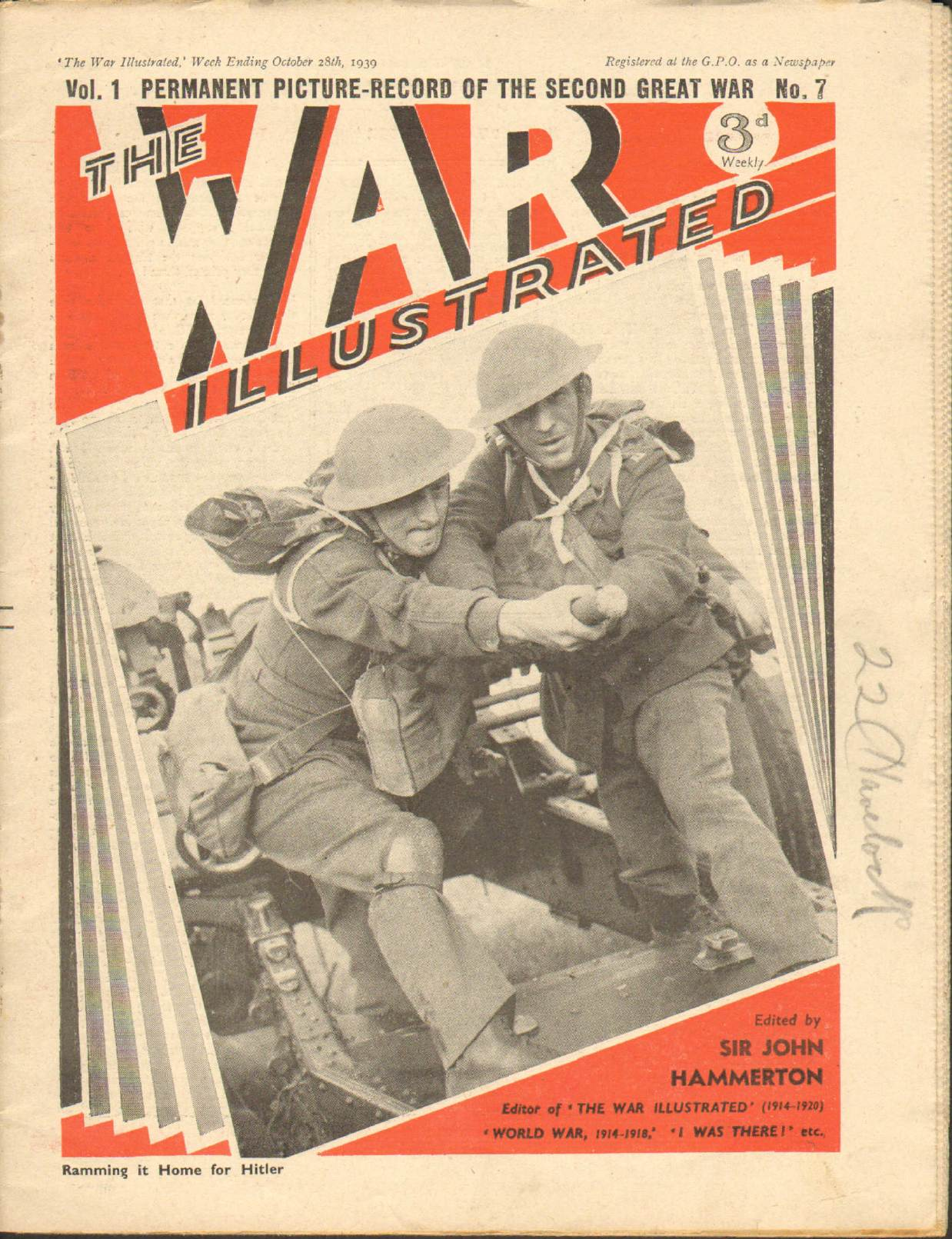 View individual pages of 'The War Illustrated  No 7 Vol 1 October 28th 1939'
